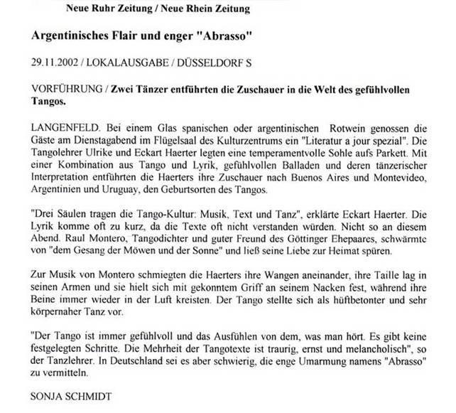 NRZ, Artikel Langenfeld